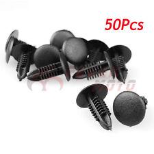 50Pcs 5mm Hole Black Panel Retrainer Liner Rivet Push Clips Fit Universal Car FM