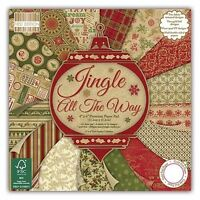 Jingle all the Way 6x6 Scrapbook Paper 16 Sheets Shabby Chic Vintage Red Green