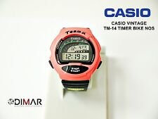 VINTAGE CASIO TM-14 TIMER BIKE QW.1006 JAPAN WR.50m AÑO 1992