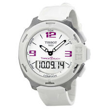 Tissot T-Race Analog Digital White Rubber Mens Watch T0814201701700