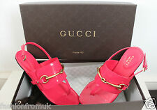 GUCCI PINK PATENT YVONNE THONGS FLAT SANDALS 36.5