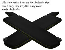 YELLOW STITCH FITS VW GOLF MK1 JETTA 74-93 2X SUN VISORS LEATHER COVERS ONLY