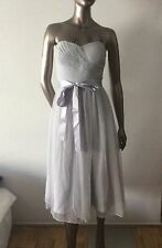 NWT Aidan Mattox silver lurex mesh Cocktail Dress silver strapless size 12  $275