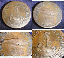 FAMOUS and well SOUGHT AFTER 1815 MAGDALEN ISLAND  Token One Penny