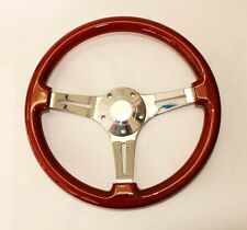 "1965 - 1969 Ford Mustang Steering Wheel Wood 14"" Mahogany"