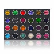 SHANY DIY Velvet Flocking powder 3D Nail Decoration Set of 24 Bold Colors