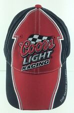 Coors Light Racing Baseball Hat Strapback The Silver Bullet One Size Black MI167