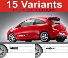 Pegatinas/calcomanías para Vauxhall corsa GSI VXR SXI SRI 2off gráficos