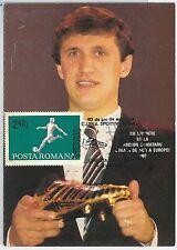 54416 - FOOTBALL - ROMANIA -  POSTAL HISTORY: 1987  MAXIMUM CARD