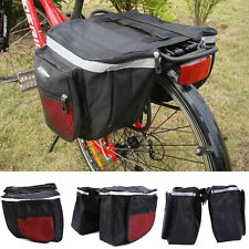 New Cycling Bicycle Bike Rack Back Rear Seat Tail Carrier Double Pannier Bag Red