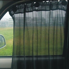 1 Pair Black Car Window Curtain Sun Shade Sun UV Protection Side Curtain New