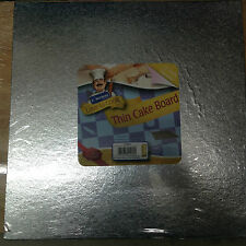 """Kingfisher 12""""/30cm Thin Square Cake Board Foil Covered & Wrapped. Home Baking."""