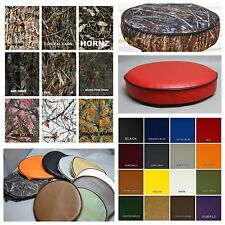 """Bar Stool Covers vinyl or camo kitchen / snack / pub in 25 colors 4"""" SIDES (W)"""