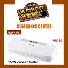 MAXIM 150 Watt Vacuum Food Saver/Preserver Heat Sealer+Bags VS150 FREE SHIPPING