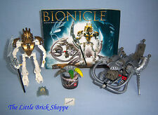 Lego Bionicle 8596 TAKANUVA & 8580 KRAATA  - Complete with instructions and tub