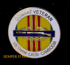 US ARMY CIB COMBAT VET VIETNAM LAOS CAMBODIA HAT PIN USA INFANTRY SPECIAL FORCES