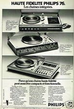Publicité advertising 1975 Chaine Hi-Fi Philips