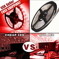 New 300 LED 3528 SMD Red 5M Waterproof Flexible LED Light Lamp Strip DC 12V IP67