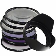 Set 58mm UV Filter DynaSun 58 + CPL +SKY +Close Up +4 Star +Fluorescent +Tulip