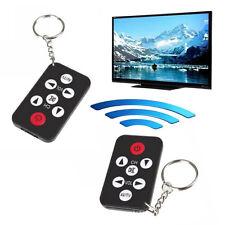 Mini Universale Infrarosso IR TV Set Telecomando Portachiavi 7 Tasti Nero