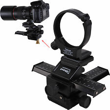 4-Way Macro Focusing Rail Slider Holder +Lens Tripod Mount Ring for Canon Camera