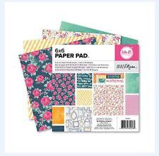 """We R Memory Keepers 6"""" x 6"""" Printed Paper Pad ~ INKED ROSE ~ 36ct  ~ 62258-1"""