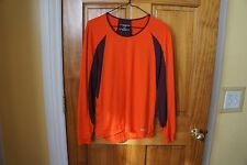 Brooks Base Layer Top,  Woman's XL,  Orange/Plum