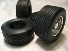 RUBBER/RESIN BIG RIG REAR TIRES 1/25TH SCALE-HIGHWAY TREAD