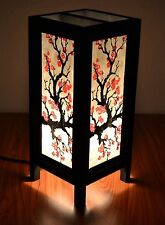 Asian Oriental Japanese Sakura Cherry Blossom Art Bedside Table Lamp