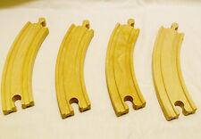 """Thomas The Train/Brio Wood 6 1/2"""" Curved Piece Track Wood-Set of 4-Reversable"""