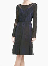 "$428 BCBG BLACK ""CHARLOTTE"" LONG SLEEVE LACE DRESS NWT XXS"