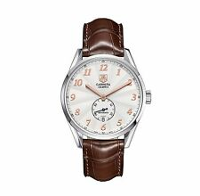 STUNNING TAG HEUER CARRERA HERITAGE WAS2112.FC6181 AUTO CALIBRE 6 LEATHER WATCH