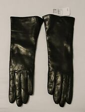 New Neiman Marcus Espresso Leather/Cashmere Lined Ladies Gloves Size 7, Italy