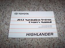 2007 Toyota Highlander Navigation System Owner User Manual Sport Limited V6