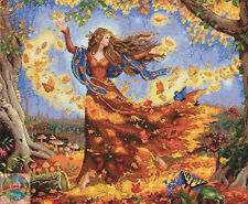 """Dimensions Counted Cross Stitch, Gold Collection """"Fall Fairy"""" ~ NEW"""