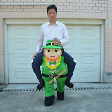 Piggy Back Carry Me Mascot Costume Leprechaun St Patricks Day New Fancy Dress V2