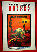 CROWS WILL DIG YOUR GRAVE 1972 CRAIG HILL SANCHO JOHN WOOD EXYU MOVIE POSTER