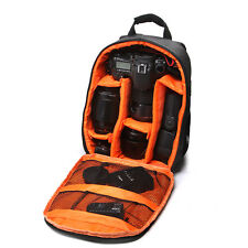 Black+ Orange Detachable DSLR Camera Backpack For Canon Nikon D3100 D3200 D7100