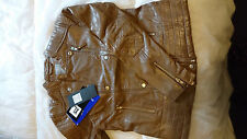 Premium Quality Sheep Leather Dark Mushroom Ladies Jacket Size 2XLarge