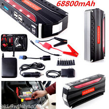 68800mAh High Power 4 USB Car Jump Starter Emergency Charger Power Bank Battery
