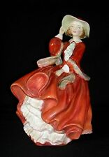 ROYAL DOULTON England Bone China TOP O' THE HILL Lady in Red FIGURINE HN1834