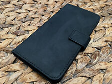 Genuine Real Leather Luxury Black Suede Pouch Wallet Case for Iphone 6 6S 4.7""