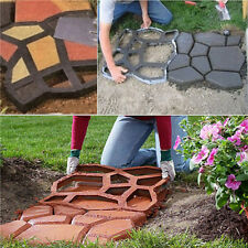 DIY Plastic Path Maker Mold Manually Paving Cement Brick Stone Road Patio Tools