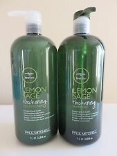 Paul Mitchell TEA TREE LEMON SAGE Shampoo Conditioner 33.8 oz Liter Set