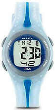 NEW Fila Unisex Digital Renake Dual Time Chronograph Blue Watch 337-01