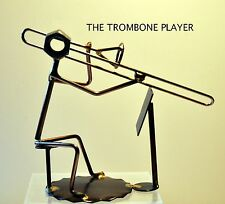 "561-Rock Creek Metal Craft Art..""TROMBONE"" PLAYER w/ music stand...made-USA"