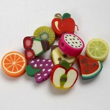 Fruit Design Clay Beads - Decorative Bead Jewellery Making - Pack of 30 Fruits