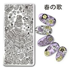 Nagel Stamping Schablone Nail Art Stamp Plate Paisley Mädchen Harunouta L019
