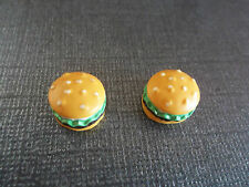 Deliciously Cute Magnetic Hamburger Earrings!