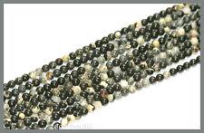 """16"""" Silver Leaf Jasper Round Beads 3mm #69102"""